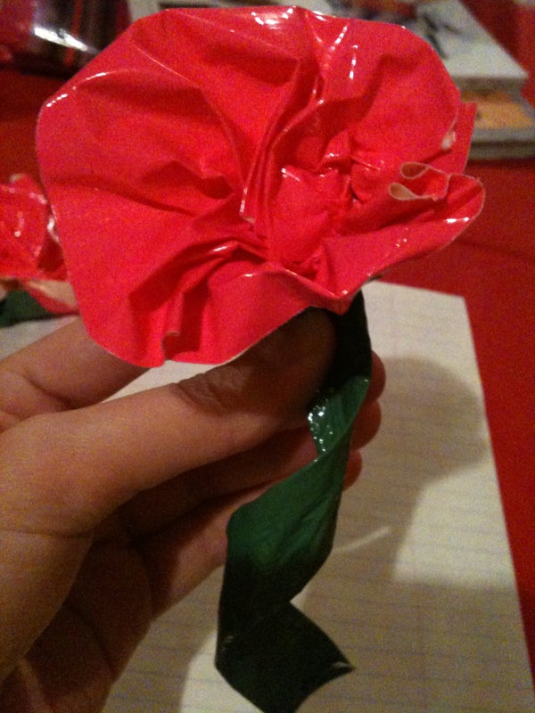 Pleated Duct Tape Flower