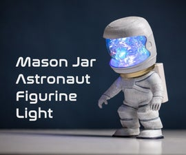 Mason Jar Astronaut Sensor Light