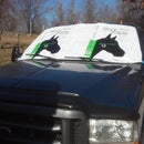 DIY WindShield Protector from Snow & Sun Using Feed Sacks