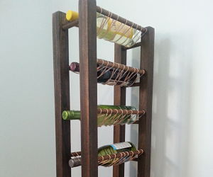Rubber Band Wine Rack
