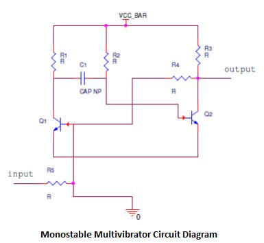 Monostable Multivibrator Circuit