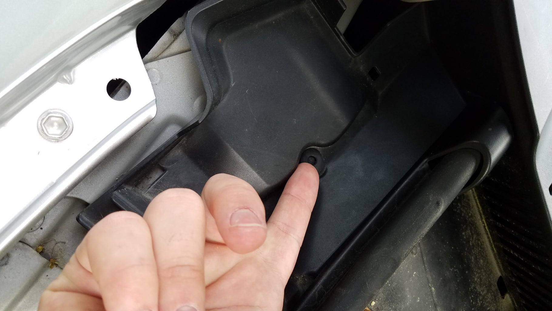 Open Up the Hood and Find the Plastic Rivet