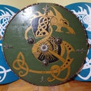 Awesome Wooden Viking Shield! Cool Viking Shield Design!