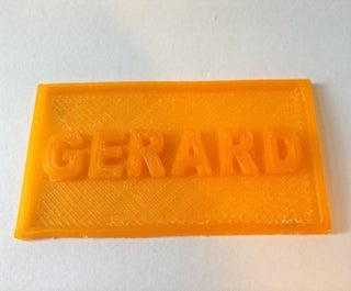 Easiest 3D Name Tag, Using Tinkercad