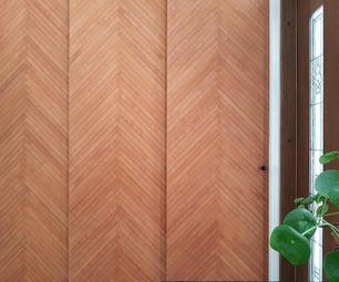 木条带左侧木板滑动门(简易&生态!)
