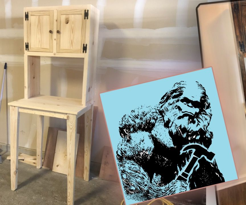How to Build a Kitchen Side Table With Cabinets