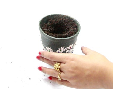 Filling the Planter With Soil
