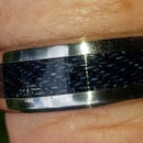 Jeans Denim and Stainless Steel Ring