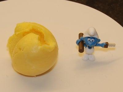 Fresh Frozen Mango Yogurt.