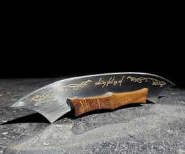 Lord of the Rings Inspired Pizza Cutter - With Acid Etched Brassing