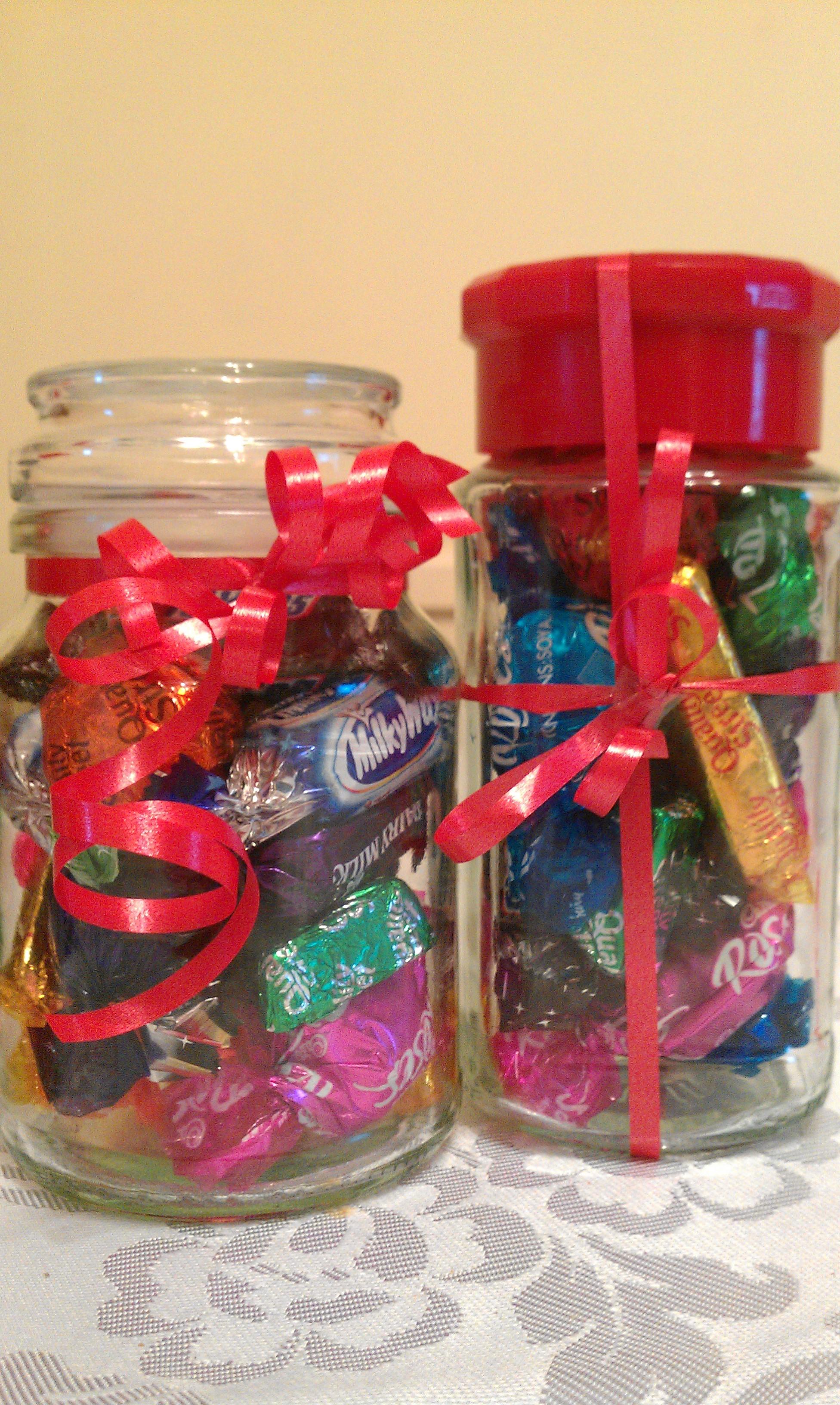 Christmas Chocolate Jars