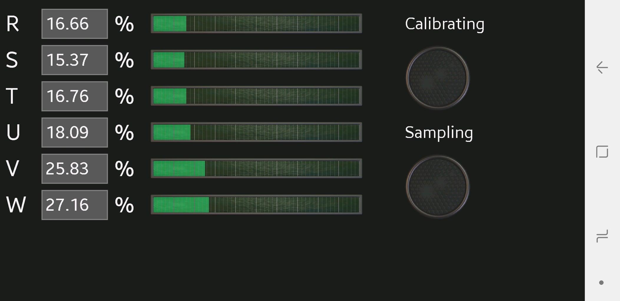 Displaying Results Through Bluetooth