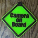 Camera on Board safety sign