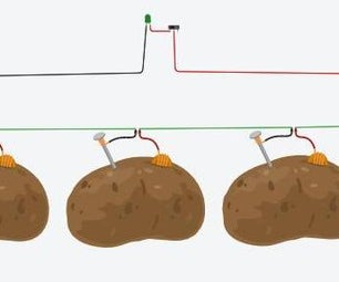 Batería De Patatas En Tinkercad
