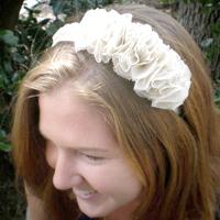 Recycled Ruffled Headband