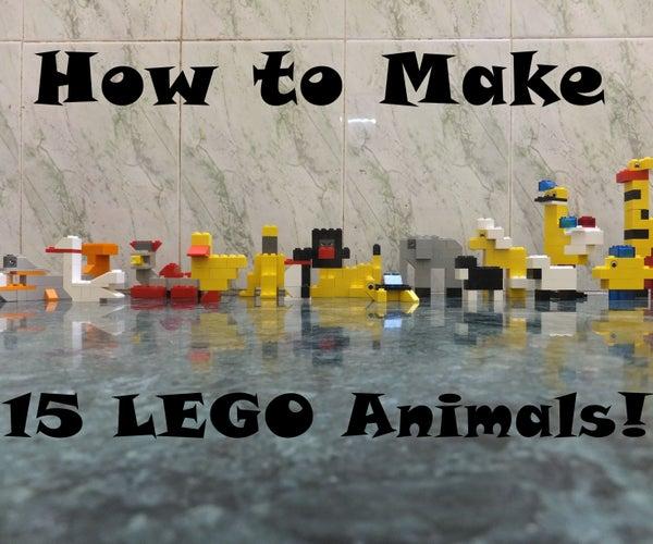 How to Make 15 LEGO Animals!