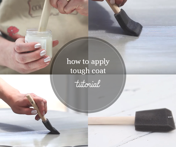 How to Finish Painted Table Tops