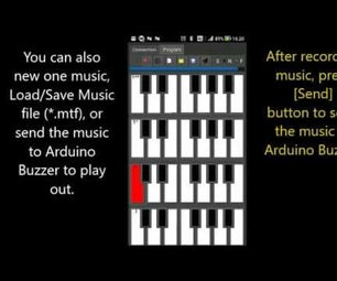 Music Editing, Sent to Buzzer and Gesture Control