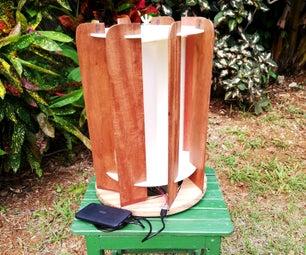 Portable Savonius Wind Turbine With Deflectors
