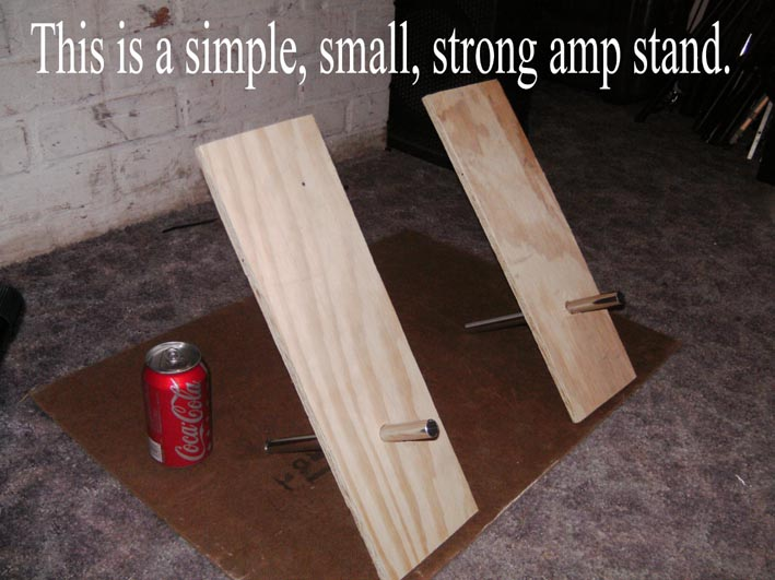 "Guitar Amp Tilt Stand - ""African Chair"" design - simple, small, strong, easy, free or real cheap"
