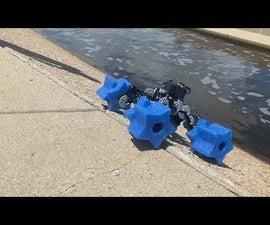 Amphibious Robots Using Pool Noodle Wheels