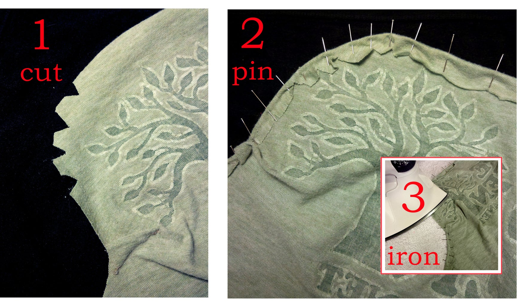 Cut and Pin the New Top Seam