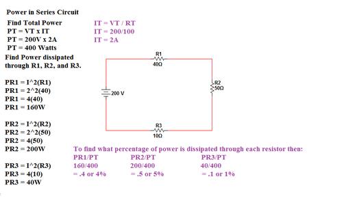 Power in Series Circuit