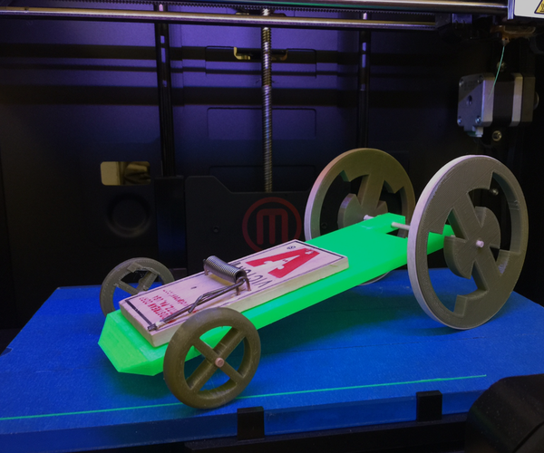 3D Printed Mouse-trap Cars