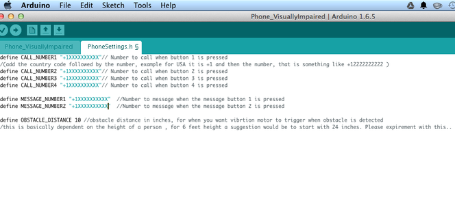 Modify Code With Phone Number and Upload to Arduino Uno
