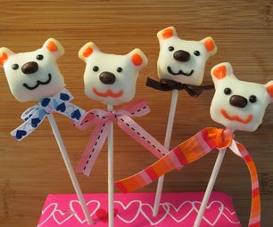 How to Make a Valentine Marshmallow Bear Pop