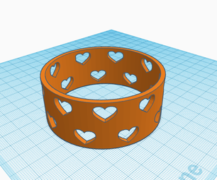 Tinkercad Bangle With Hearts