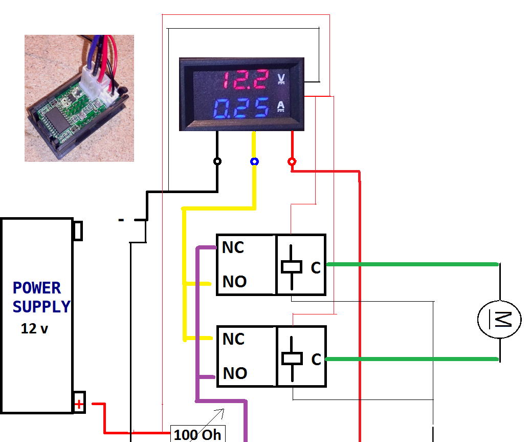 Simple DC Voltage Variator With Inversion Switch
