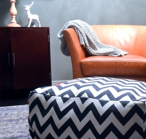 DIY Chevron Pouf Tutorial (A Dogs Daybed)
