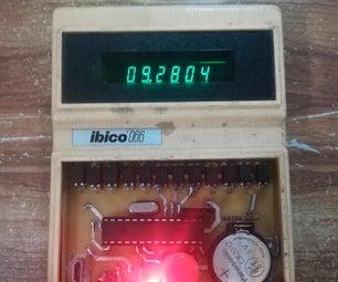 Turn a VFD 1970s Calculator Into a Digital Clock