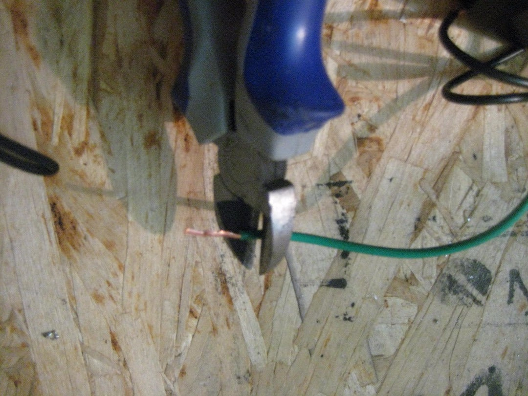Snip the  Neutral Wire From Dimmer Switch