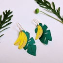 Paper Tropical Banana Earrings