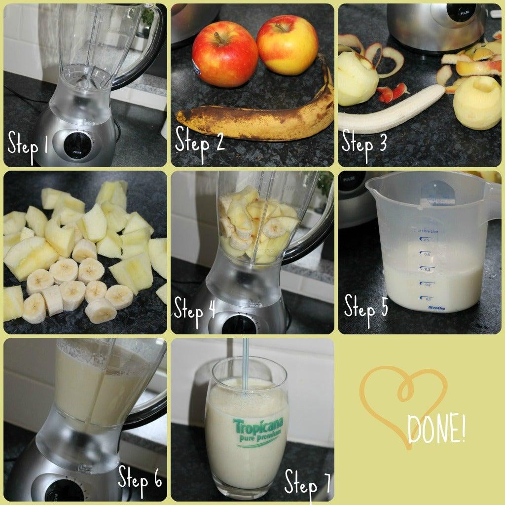 how to make a banna smoothie