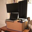 Cardboard Standing Desk under $5