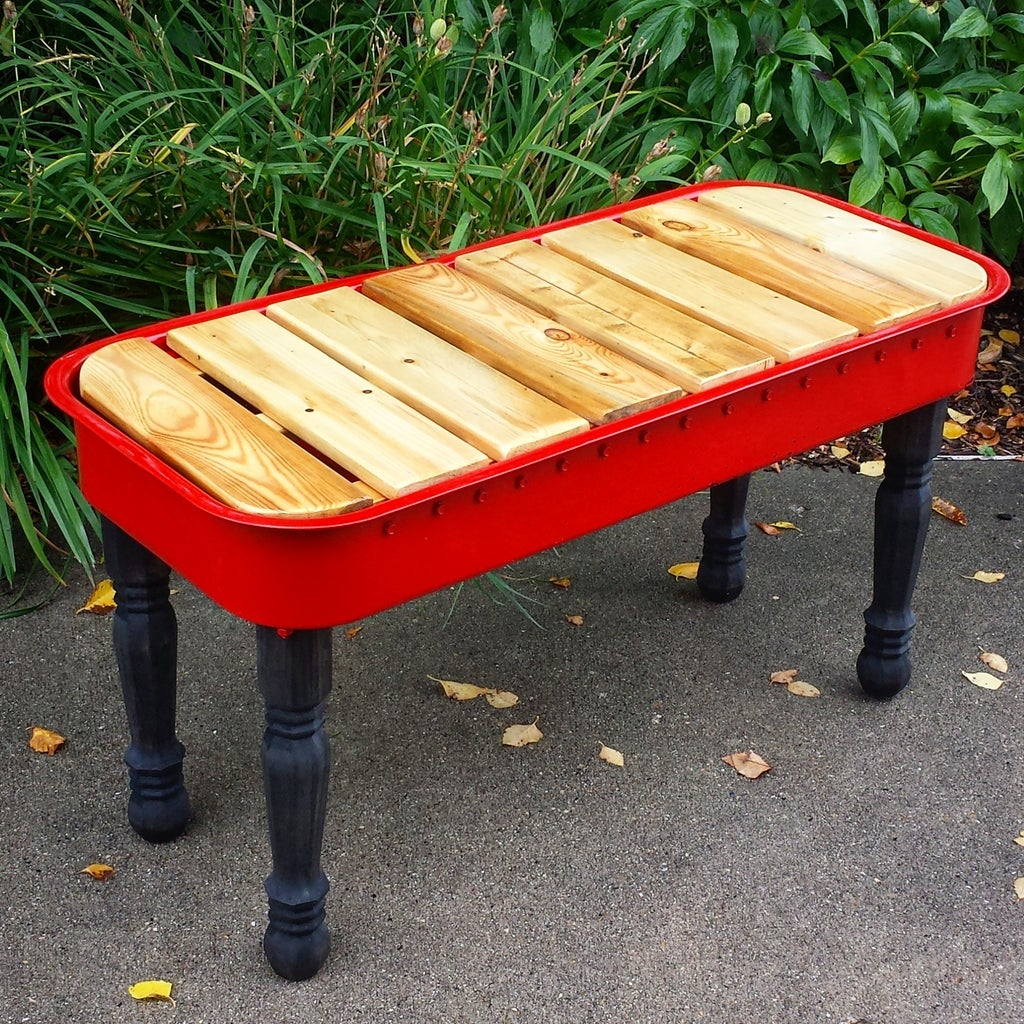 Little Red Wagon Bench