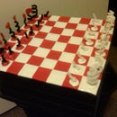 Duct Tape Chess Board and Chess Set