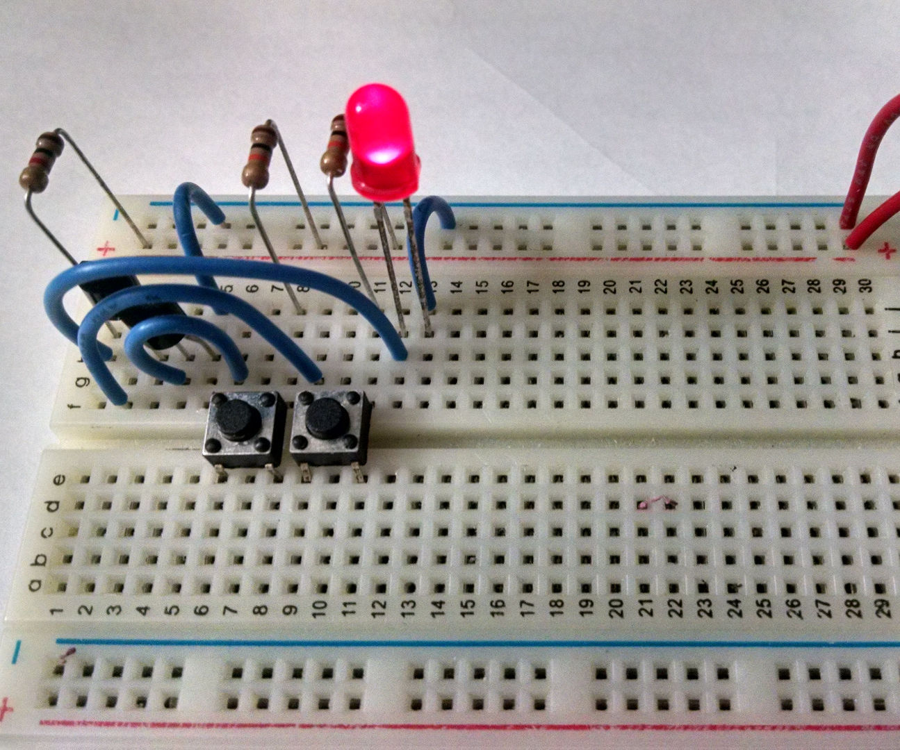 Build a NAND gate from transistors