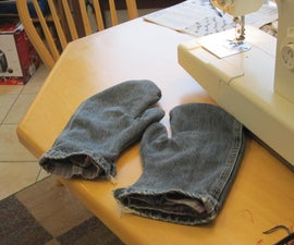 Mittens, Recycled Flannel and Denim, Feel the Warm!