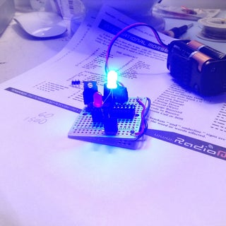 Throwduino Basic - Light-Sensing Flashing Throwie With 1 Added Part - Now With Morse Code