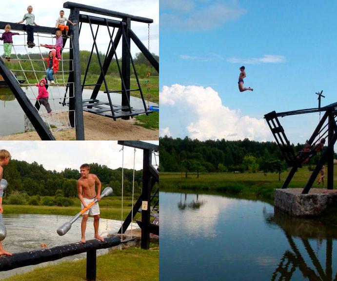 Multi Swing Backyard Playground