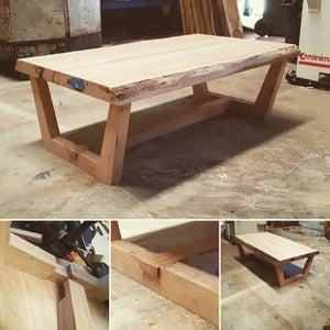 Live Edge Coffee Table - Modern