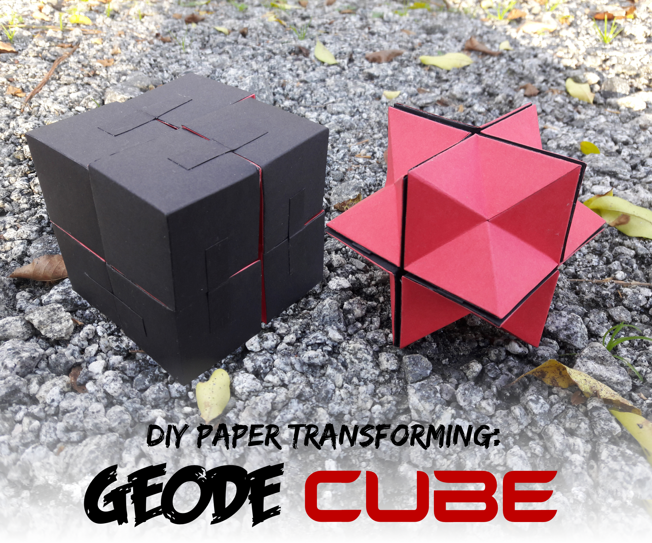 Make a Paper Transforming Geode Cube - Design and Template