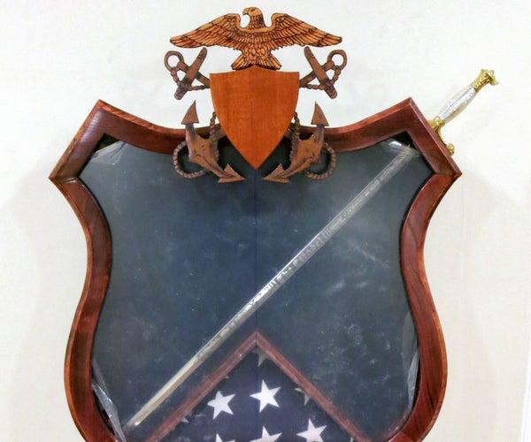 Navy Master at Arms Shadowbox