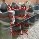 Simple Glass Shoe Rack