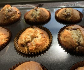 Best Banana and Chocolate Chip Muffins