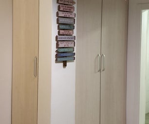 Use Concrete Column for Storage Niche Closets